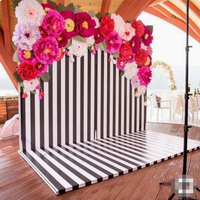 Son Krep Kağıt Çiçekler 35 ADET + Küçük Çiçekler Için 16 ADET + Yapraklar 24 ADET Düğün Olay Backdrop Mezuniyet Moda Gösterisi