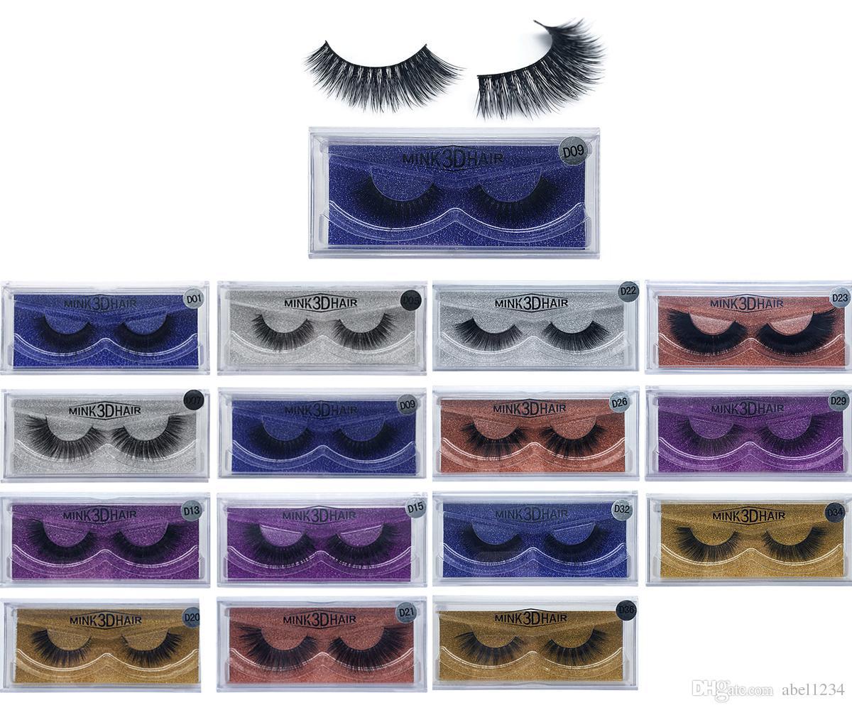 8428947eb8b New 3D Mink Hair 3D Mink Eyelashes Hair Fur Eyelashes Messy Eye lash  Extension Sexy Eyelash Full Strip Eye Lashes DHL