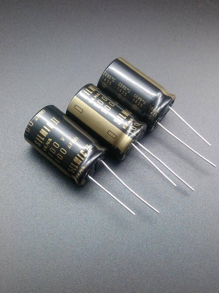 10Pcs Japan ELNA 100V 100UF RFS SILMIC II HIFI Audio Capacitor Product in 2019
