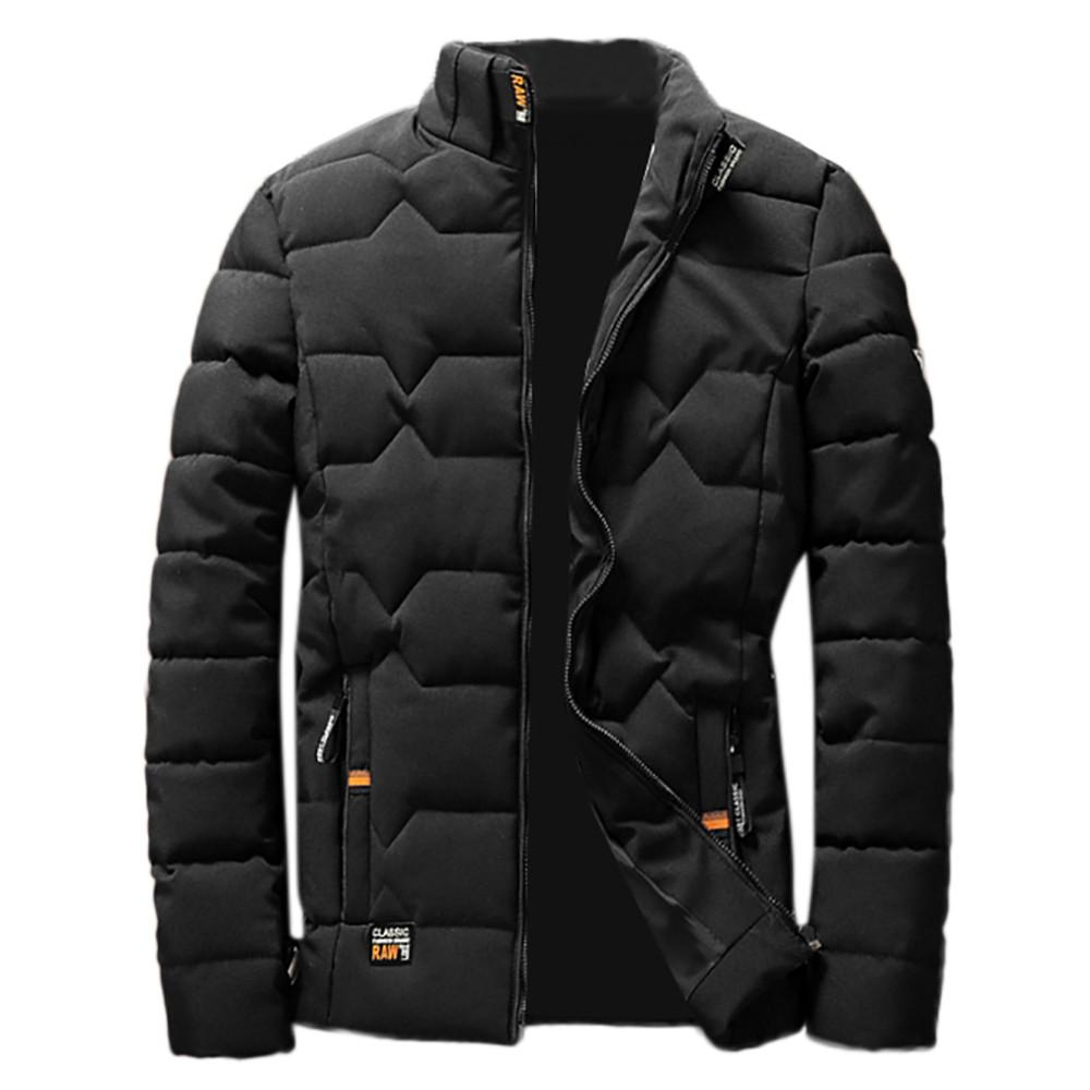 Jacket Men Winter Collar Blouse Thickening Coat Pullover Outwear Top Blouse Parka Men Clothes,Red,M