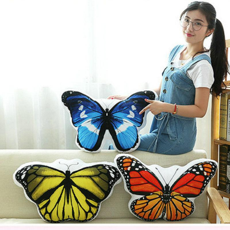 Cute Stuffed plush Soft pillow Cushion butterfly doll Simulation butterfly plush toys baby birthday gift for Children for Kids