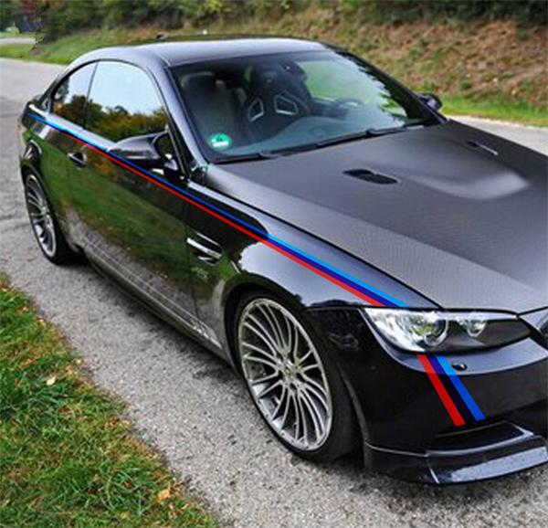 도매 자동차 스타일링 양쪽 허리 라인 데칼 스티커 자동차 바디 장식 BMW 3/5 시리즈에 대 한 비닐 스티커 e90 f10 f20 f30 M3 M5 X1