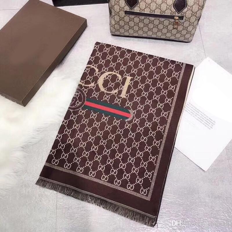 جودة عالية الكشمير رسائل العلامة التجارية مصمم الأوشحة النساء الفتيات الفاخرة والأوشحة والأغطية الباشمينا الشهيرة الإكسسوارات هدية