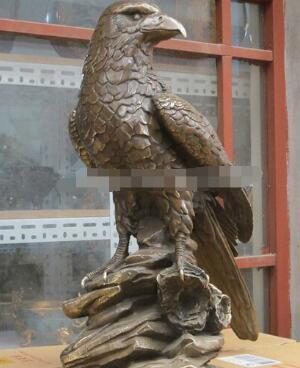 "wan67104004+++24""Western art Statue Bronze Beautiful Sculpture hawk eagle tercel Stand effigy"