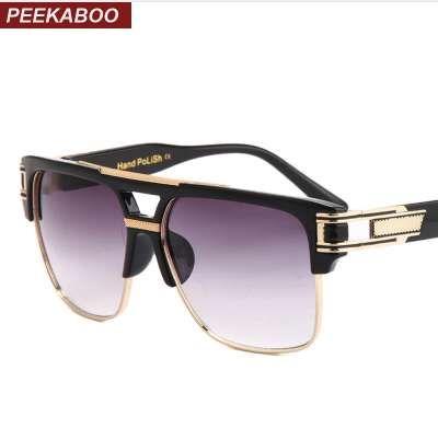 Peekaboo Sole Marque Sunglasses Unisex 2018 Conception UV Top Square Sun Hommes Semi Lunettes Semi Luxe Luxe Occhiali Quality Da Big Urwsr