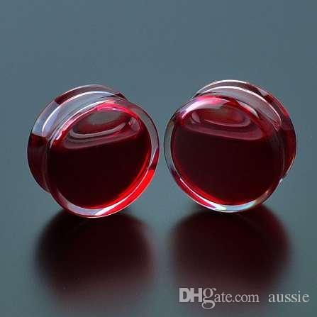 SwanJo 1 Pair Kırmızı Sıvı Kan Kulak Göstergeleri Akrilik Kulak Fiş Küpe Göstergeleri Vücut Piercing Takı Piercing 9 Boyutu K ...