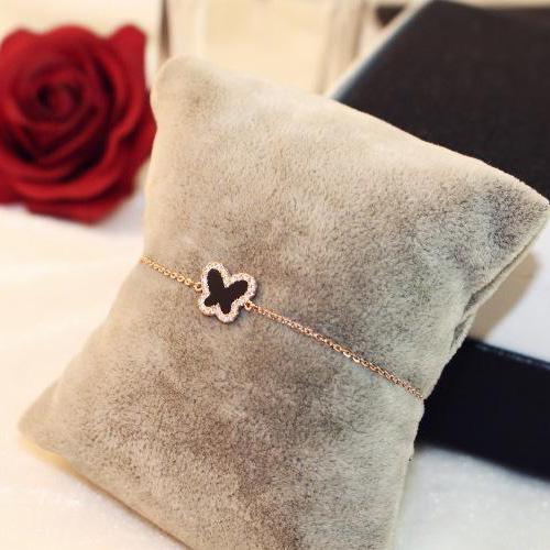 la mode de haute qualité réglable bracelet papillon en alliage incrustée de pierres précieuses pour les femmes