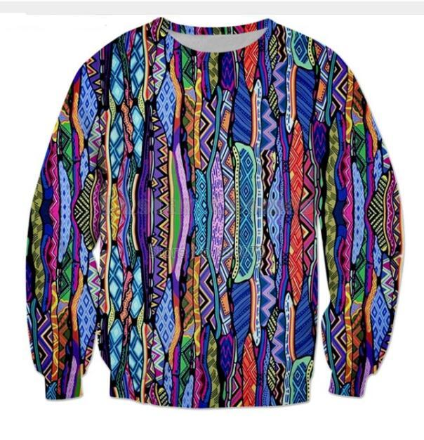 All'ingrosso-Newest Fashion Womens / Mens anni '90 Retro divertente 3D stampa Casual Felpa Tops Plus Size QQy037