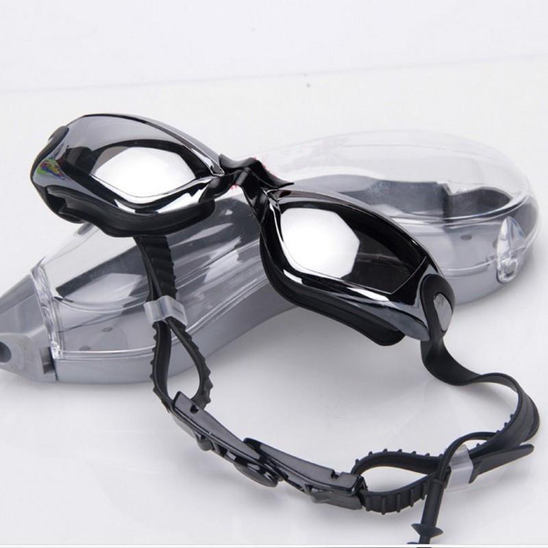 Professional Men and Water Sports Swimming Goggles Anti-Fog UV Adjustable Plating Eyewear Waterproof Silicone Adult Swim Glasses 63526