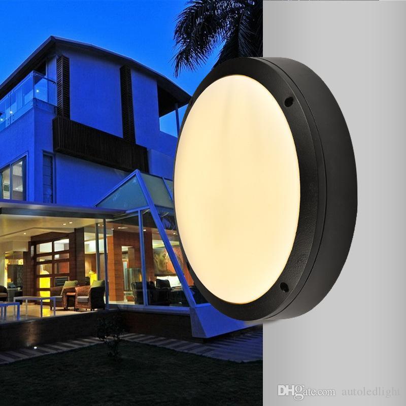 18w 24w 30w led outdoor wall lamps waterproof round Garden lamp aisle balcony lamp ac 85-265v UL FCC