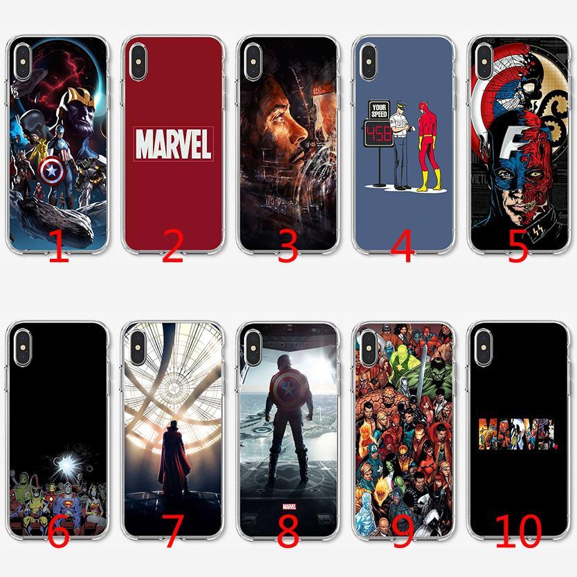 Coque TPU Marvel Superheroes En Silicone Souple Pour IPhone X XS Max XR 8 7 Plus 6 6 Plus 5 5S SE Couverture Proposé Par Emmall, 1,32 € | ...