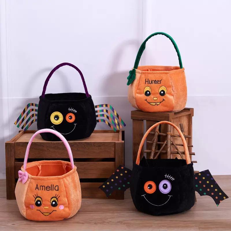 Halloween Decoration Children Gift Candy Bag Creative Sugar Pumpkin Bat spider Tote cartoon Pendant Drop Ornament