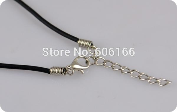 """5 x 45cm BLACK CORD NECKLACE 2mm Wide 18/"""" Long with Lobster Clasp"""