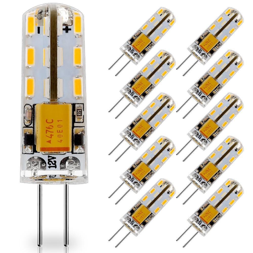 Led G4 12v.10 Pack G4 Led Light Bulb 12v Ac Dc Led G4 Lamp 24led Replace 10w T3 Jc Halogen Bulbs Warm White 3000k Natural White 4000k 6000k 1141 Led Bulb Led