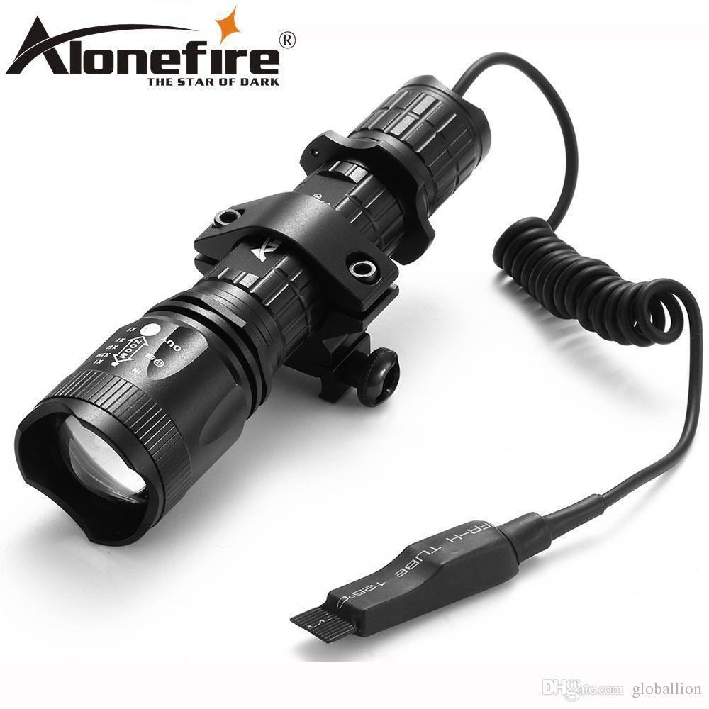 Alonefire TK400 التكتيكية ضوء كري xml l2 led الصيد مضيا التكبير الشعلة + جبل + الضغط التبديل للخارجية