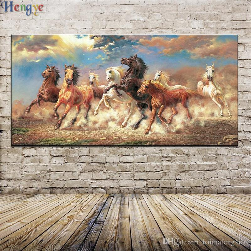 ZYXIAO Animal horse Oil painting on Canvas Professional Art Poster No Frame Wall Picture for Living Room Sofa Home Decor ys0035