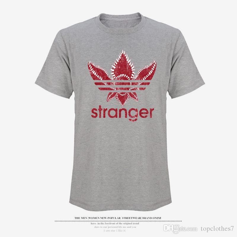 Summer 2018 Arrival Stranger Things Summer Cotton T -Shirt Men Short Sleeve Tshirts and Black Gray White Funny T Shirts for Men In Tee