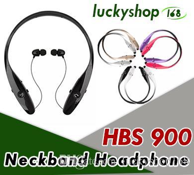 HBS 900 Cell Phone Earphones HBS900 CSR Wireless Sport Neckband Cuffie Auricolari In-Ear Auricolari Bluetooth Stereo per LG iPhone X Samsung