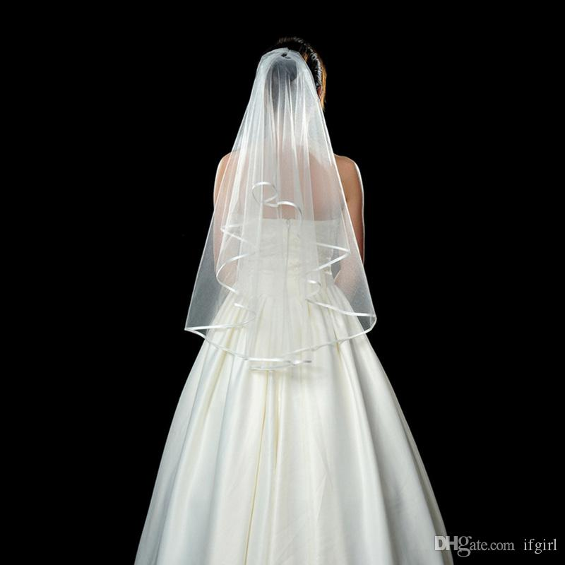 Two Layers Tulle Short Bridal Veils 2018 Hot Sale Cheap Wedding Bridal Accessory For wedding Dresses Cheap Wedding Net In Stock
