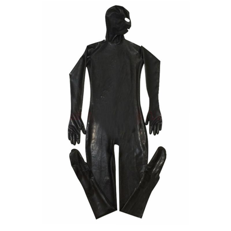 Эротический купальник гей мужчины сексуальный фетиш латекс ночной клуб комбинезон ПВХ костюмы заключенный косплей костюм тела черный кожаный комбинезон