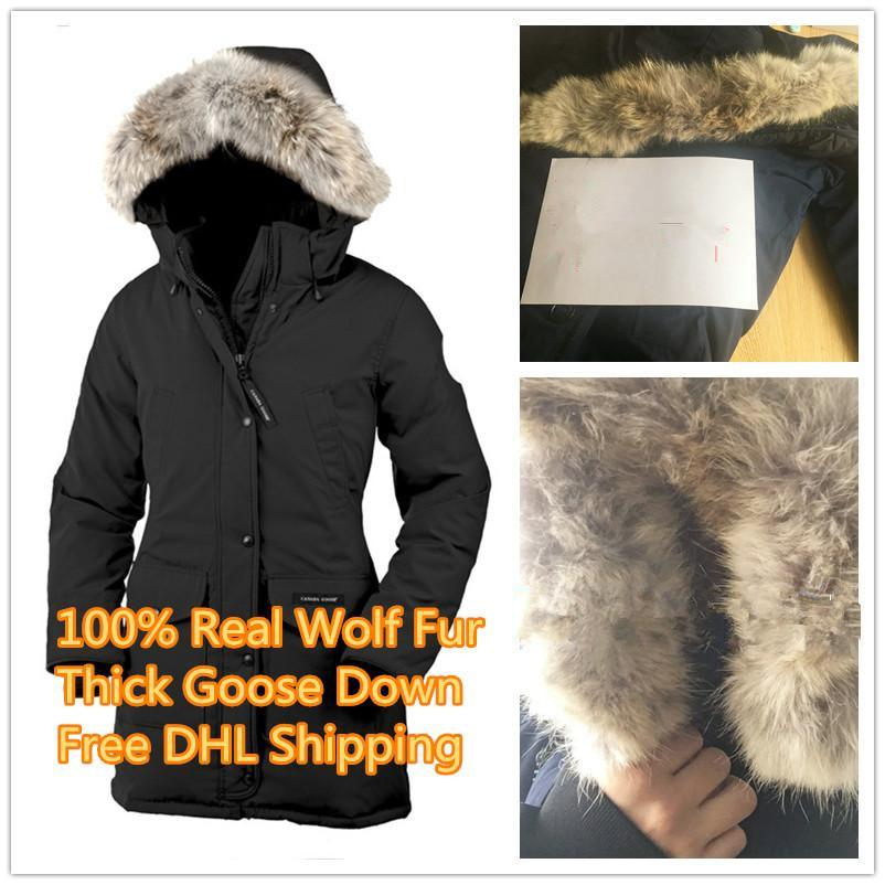 Top New Arrival Women's Trillium Parka Winter Jacket Arctic Parka Red Outdoor Coat Hoodies Real Wolf Fur
