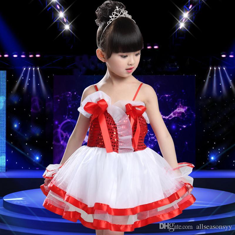 coro niñas de baile jardín de niños falda de la ropa del funcionamiento América calle danza etapa funcionamiento de la danza de los niños