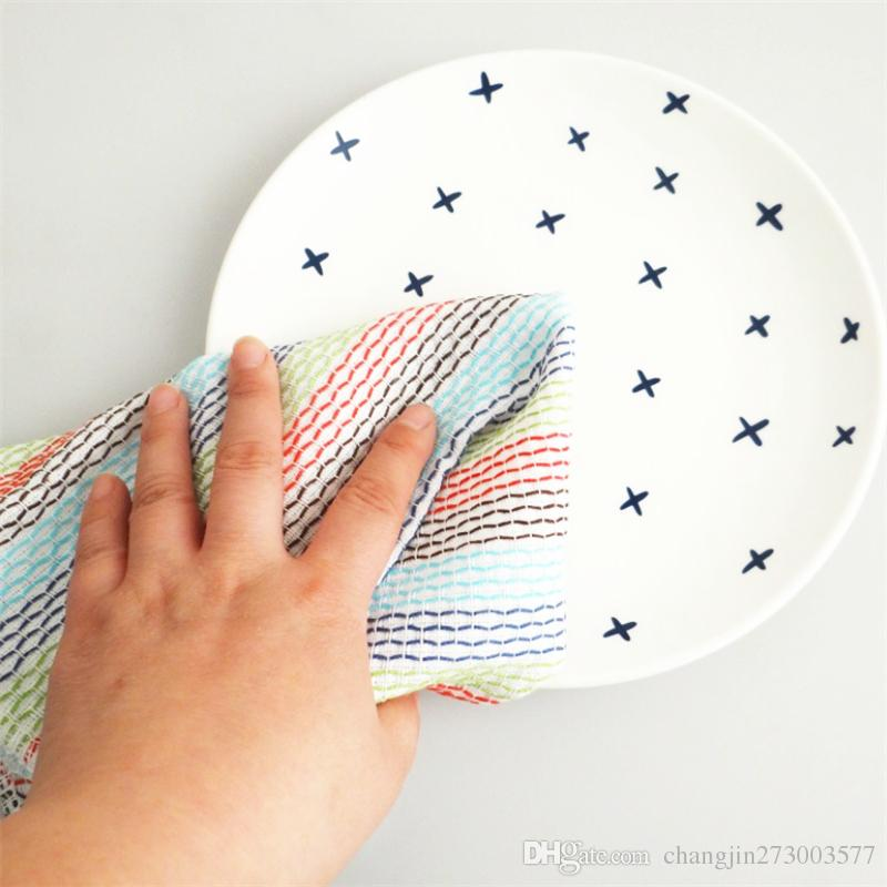 DOUBLE LAYERED 100/% SOFT COTTON  CLEANING DISH CLOTHS  UK Seller