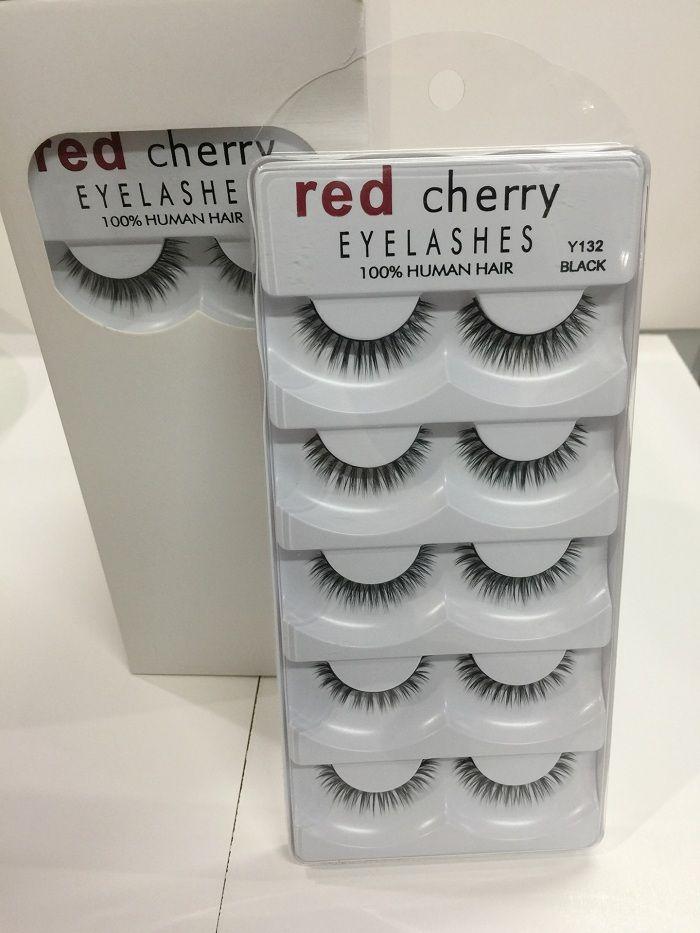 RED CHERRY الرموش الطبيعية لفترة طويلة العين جلدة تمديد ماكياج المهنية فو رمش مجنح جلدة وهمية Wispies y124 y105 Y131 Y11
