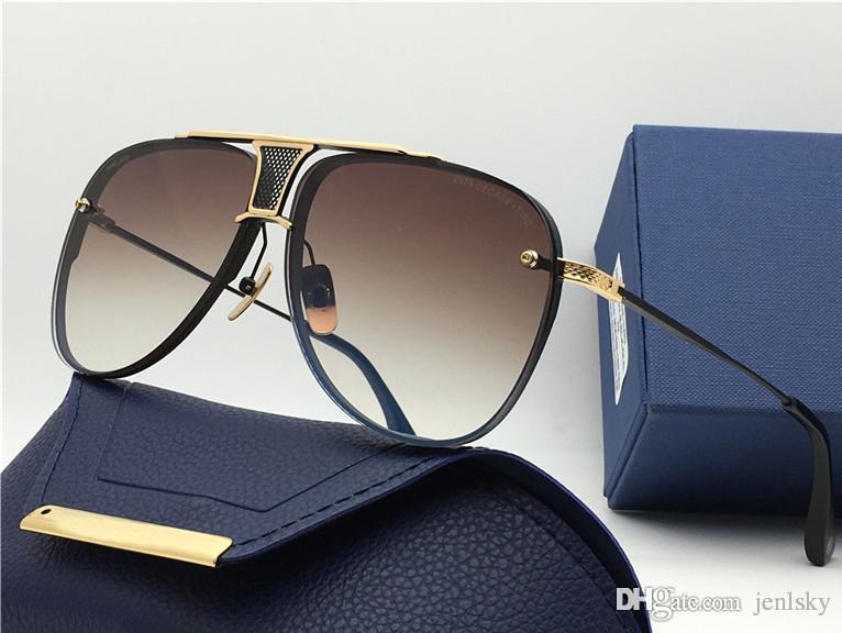 Clássico piloto Sunglasses Gold / Brown 20th Anniversary Sonnenbrille Moda óculos de sol dos homens óculos unisex novo com caixa