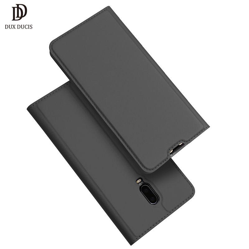 "wholesale 6T Case DUX DUCIS Luxury Leather Flip Case For Oneplus 6T Coque Wallet Cover for One Plus 6T 6 T 6.4"" Phone Case Funda"