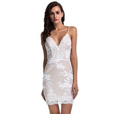 여자 골드 블랙 장식 조각 여름 드레스 섹시한 V 넥 등이없는 여성 Sundress 럭셔리 파티 클럽 미니 드레스 Vestidos 뜨거운 판매