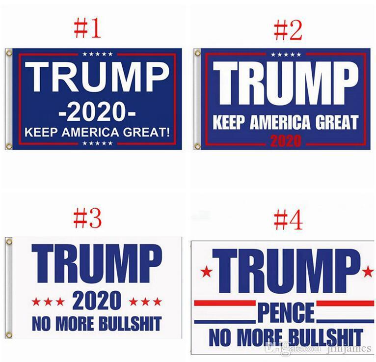 90 * 150 cm Trump 2020 Flaga Dwustronne Wydrukowane Flagi Donalda Utrzymuj Amerykę Świetnie Zwycięzca Wystrój Poliester Baner Nie więcej Buldshirt Flag 150 sztuk