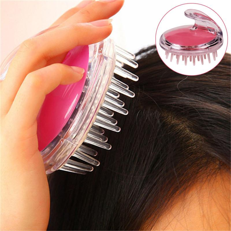 Silicone Head Body To Wash Clean Care Hair Root Itching Scalp Massage Comb Shower Brush Bath Spa Slimming Anti-Dandruff Shampoo free shippin