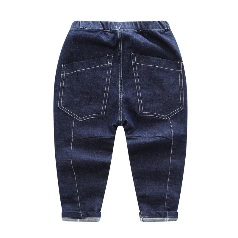 CROAL CHERIE 80-130cm Fashion Jeans For Children Boys Blue Black Loose Style Denim Kids Pants Baby Pants Denim