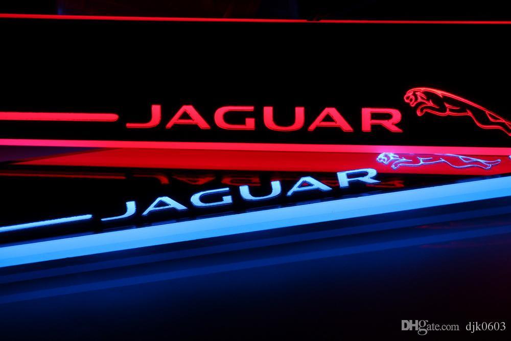 Педаль экстерьера автомобиля Части СИД Пороги скребок Тропинка Динамический Streamer свет для Jaguar XF 2012 - 2014 2015