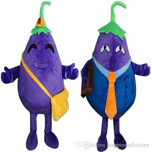 Hot Fruits Vegetables Eggplant Mascot Costumes Complete Outfits Christmas Vegetable Costume Adult children size Fancy Halloween Party Dress