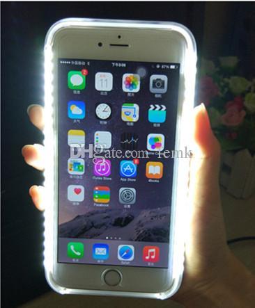 لفون X / XS LED 3 جيل تضيء قضية الهاتف الخليوي ملء Selfile صورة مضيئة حالة تغطية الهاتف مع حزمة البيع بالتجزئة