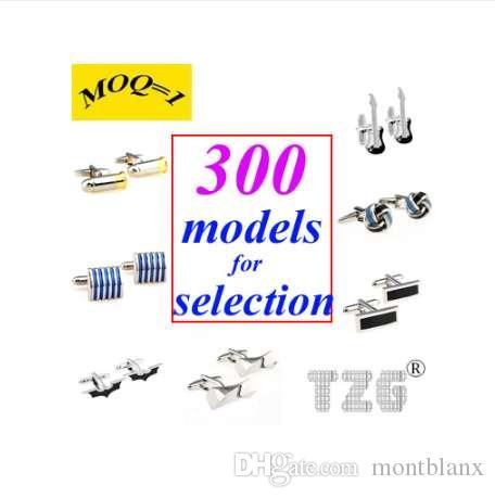Mezcle de los 300 modelos más vendidos (MOQ = 1) Gemelos de acero inoxidable Gemelos con envío gratuito Promoción