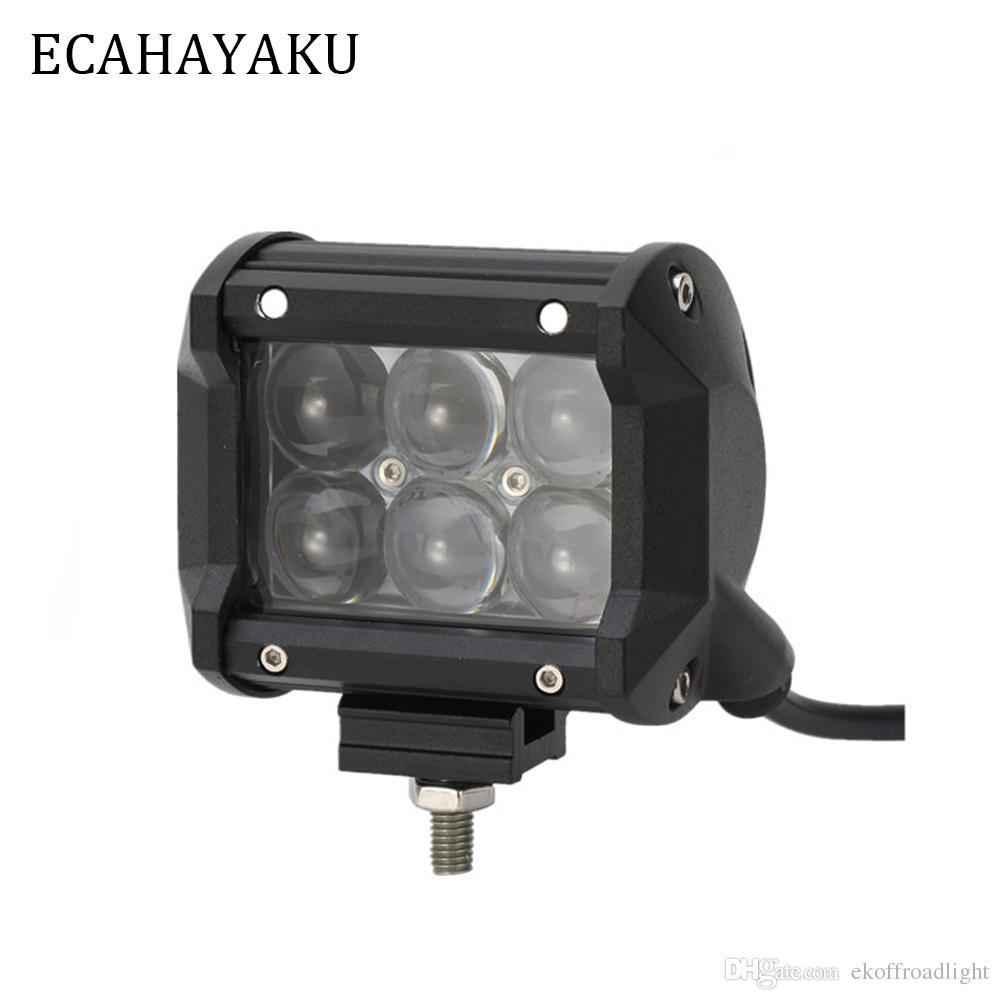 ECAHAYAKU 1 stücke 4 zoll 30 Watt 4D LED Arbeitslichtleiste für Traktor Boot Offroad 4WD 4x4 Lkw SUV ATV Spot Flutlichtstrahl 12 V 24 v nebelscheinwerfer