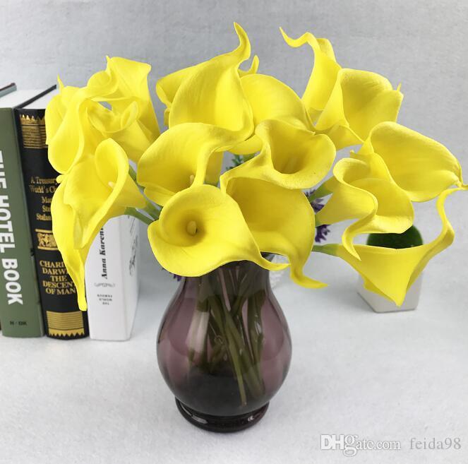Горячая распродажа калла лилия свадебный букет из латекса реальный сенсорный искусственный цветок GA52