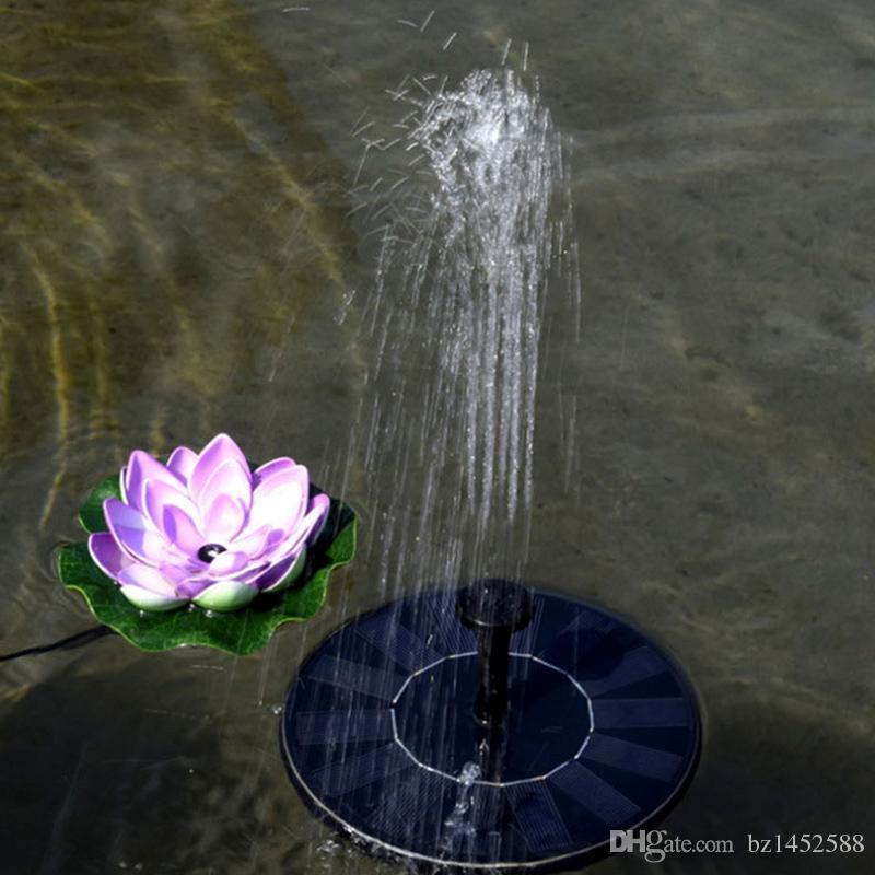 Painel de Kit de Bomba de Água Movido a Energia Solar Bomba de Fluxo de Água de Bomba de Folha de Lótus Flutuante Para Piscar