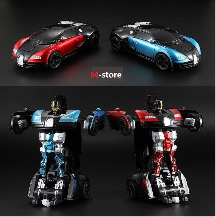 Top Sports Car Modèles Deformation Robot Transformation Transformation Télécommande RC Voiture Jouets pour Enfants Cadeau De Noël