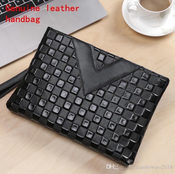 Factory own brand men bag fashion 3D embossed leather bag men must-have leather clutch bag casual leather fashion storage wallet