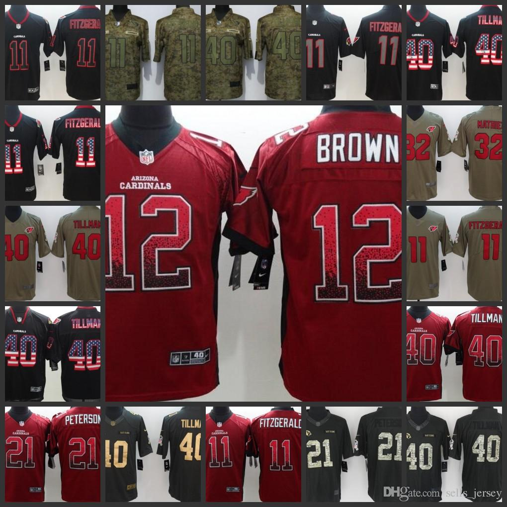 brand new b35b2 63a29 2019 Arizona Man Cardinals Women Youth Football Jersey #11 Larry Fitzgerald  32 Derrick Coleman 40 40 Pat Tillman Embroidery Jerseys From Nfl_jersey01,  ...