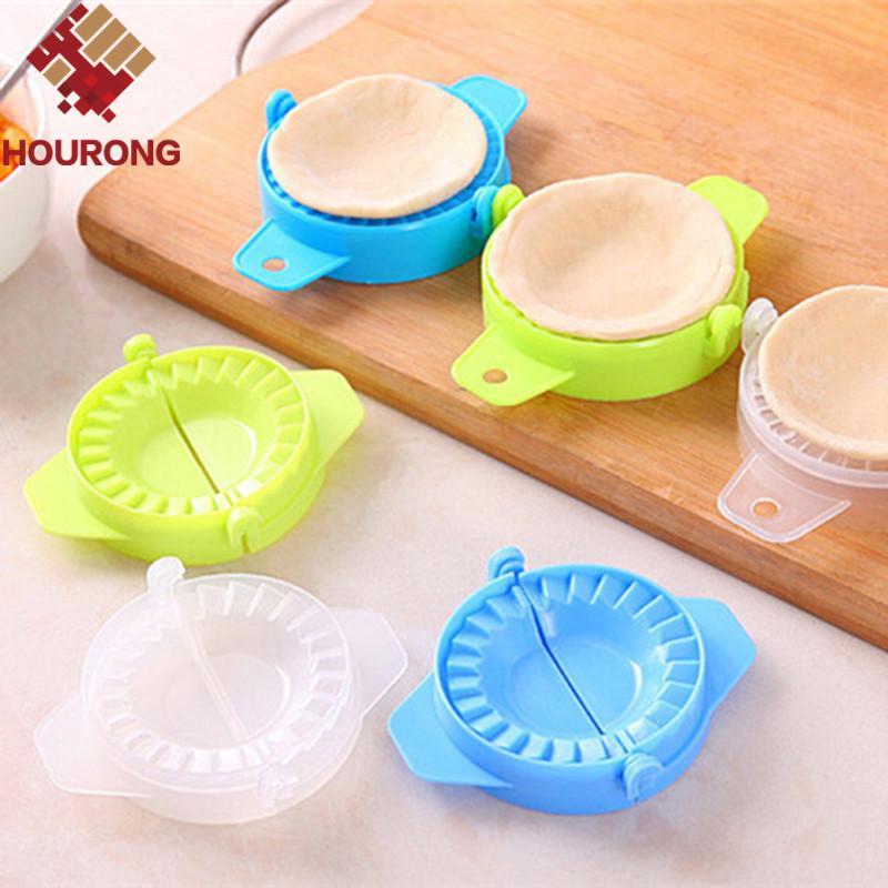 Wholesale- Hourong 1Pc Kitchen Gadget Plastic Dumpling Maker Mold Dough Press Dumpling Pie Ravioli Mould Cooking Kitchen Accessories Tool