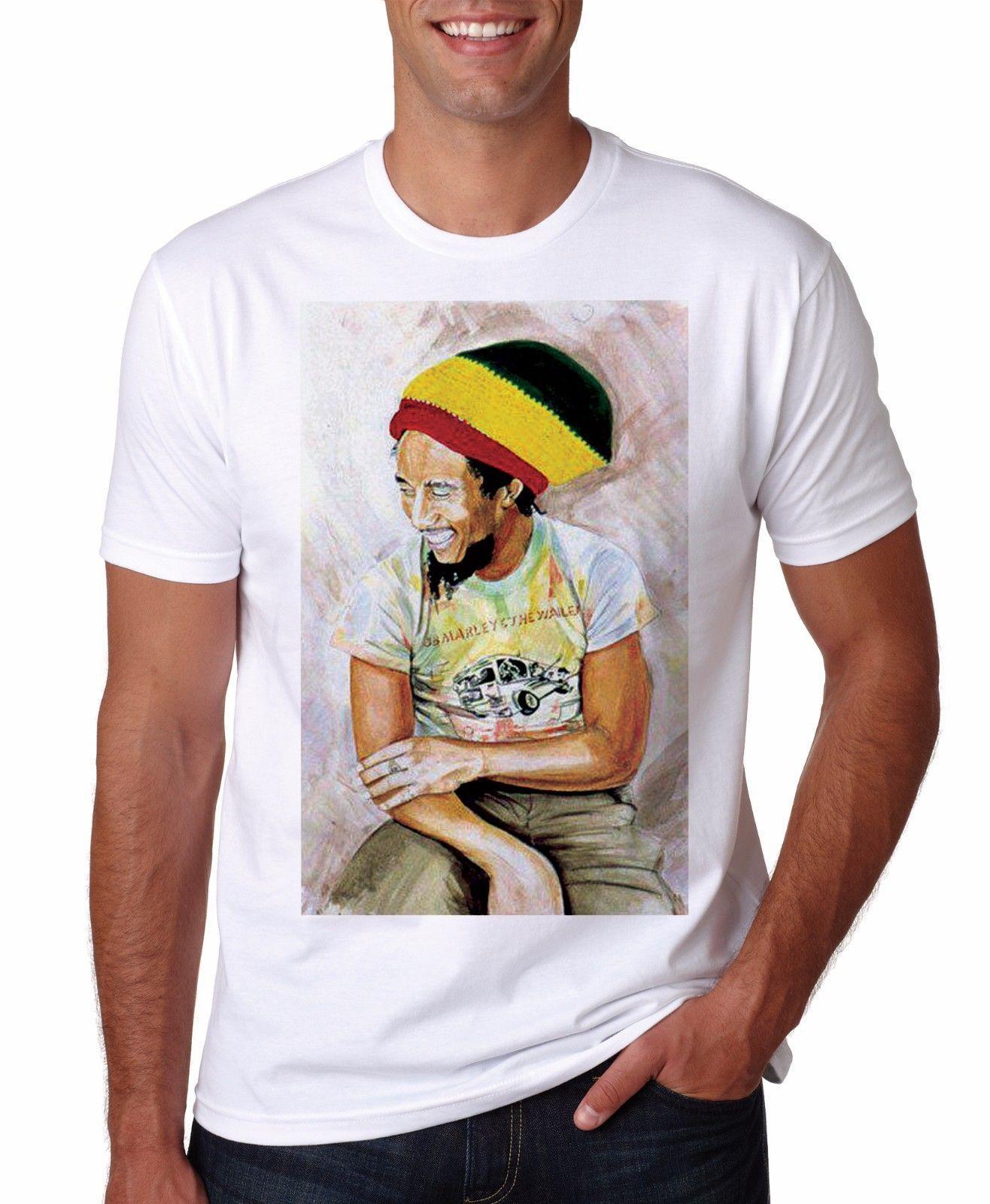 Bob T Shirt Marley Mens Reggae Funny Tshirt Sconto all'ingrosso S Birthday Unisex Legend 2