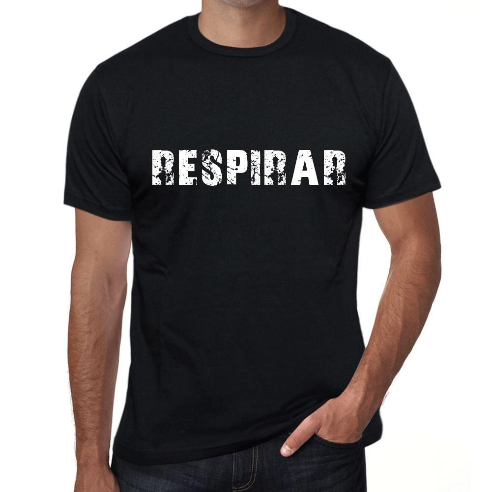 respirar Hombre Camiseta Negro Regalo De Cumpleaños 00550