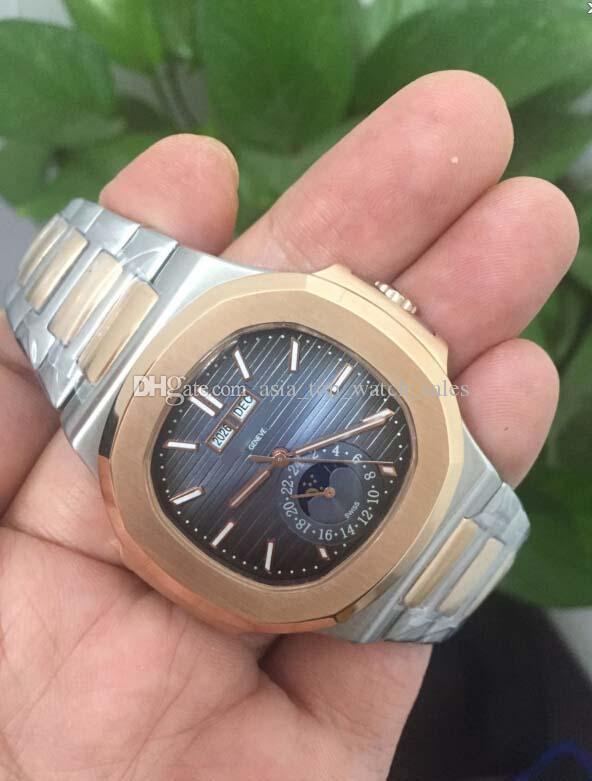 أفضل نسخة عالية الجودة 18 كيلو الذهب 40.5 ملليمتر نوتيلوس 5711 / 1A-001 القمر / الشمس آسيا الميكانيكية شفافة الميكانيكية التلقائية رجل الساعات