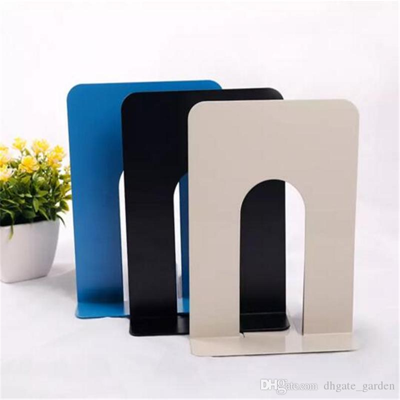Durable Heavy Duty Metal Book End Shelf Bookend Holder Office School Supplies Stationery Student Good Helper Hot Sell GBN-058