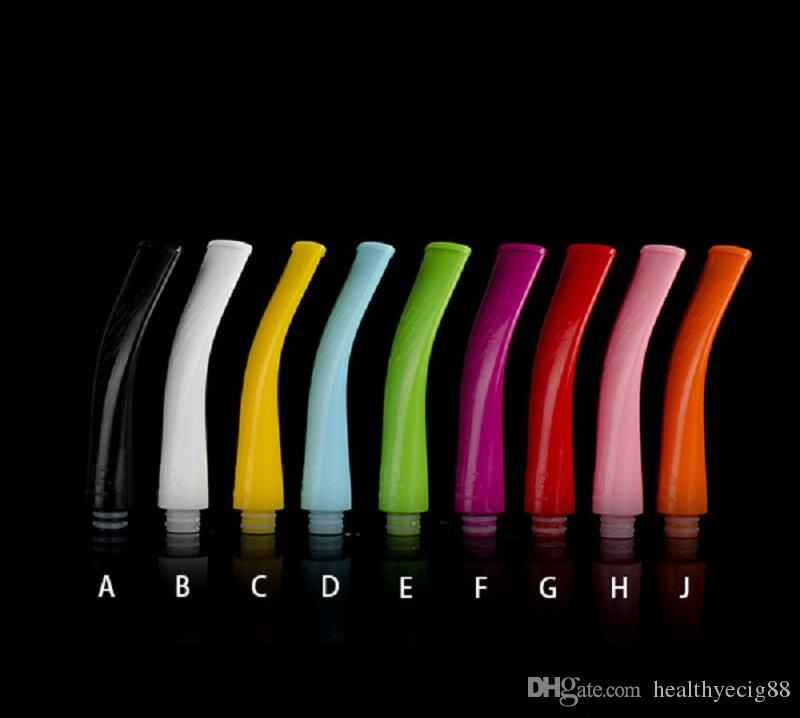 Plastic Flat Drip Tip Curved Bend Long Drip Tip Colorful 75mm 510 Mouthpieces for E Pipe Rda Vape Ecig Drip Tip
